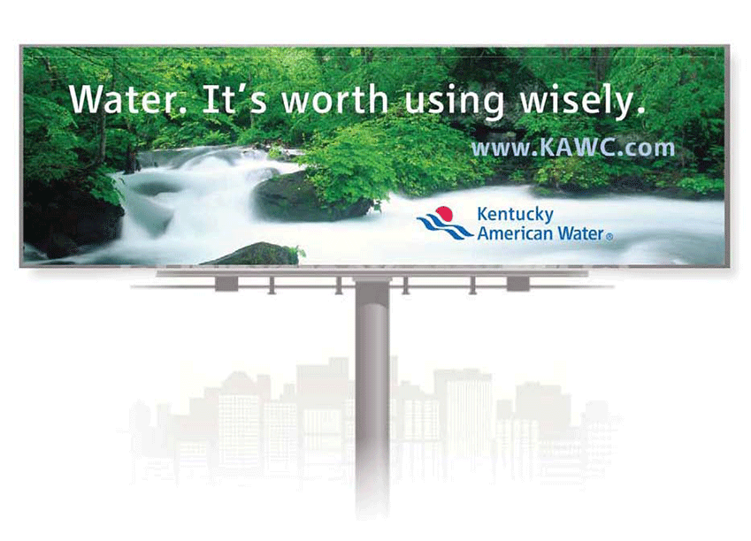 kentucky american water billboard